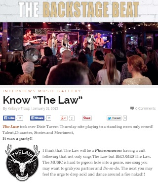 The Law Band concert review: Know The Law, by Kelleye Troup for The Backstage Beat