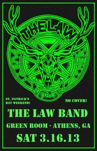 The Law Band @The Green Room in Athens, GA on Sat March 16