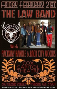 2/21/14 The Law Band w/Packway Handle & Back City Woods @Cox Capitol Theatre