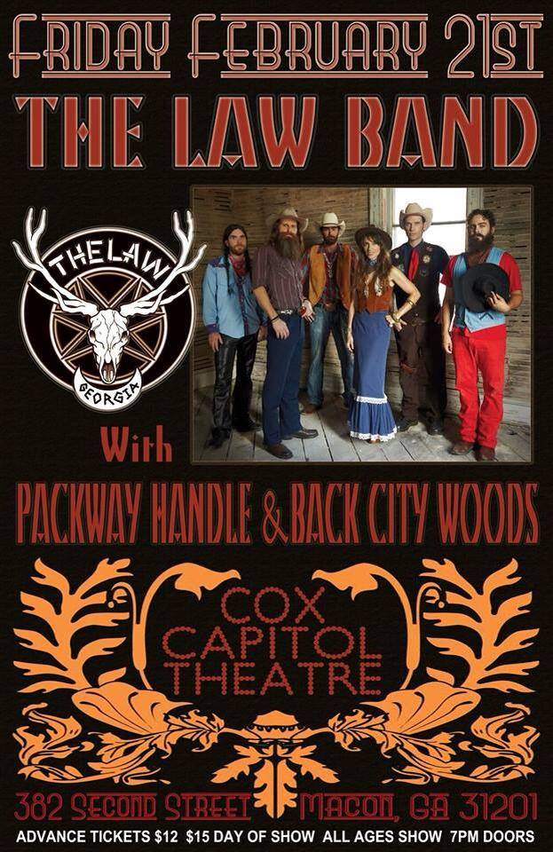 tonight it s macon the law band hard rockin country music straight out of atlanta ga. Black Bedroom Furniture Sets. Home Design Ideas