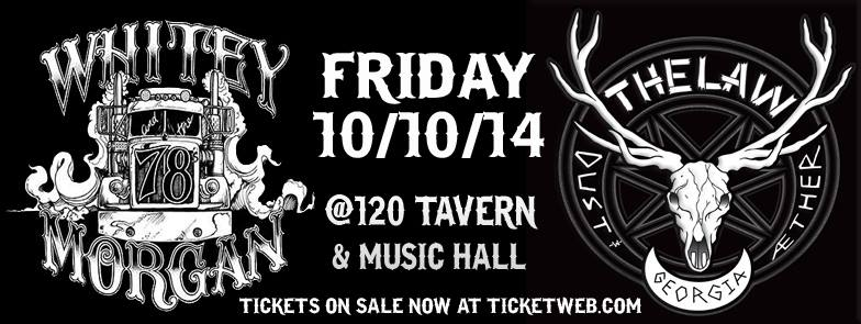 The Law Band and Whitey Morgan at the !20 Tavern and Music Hall 10/10/14