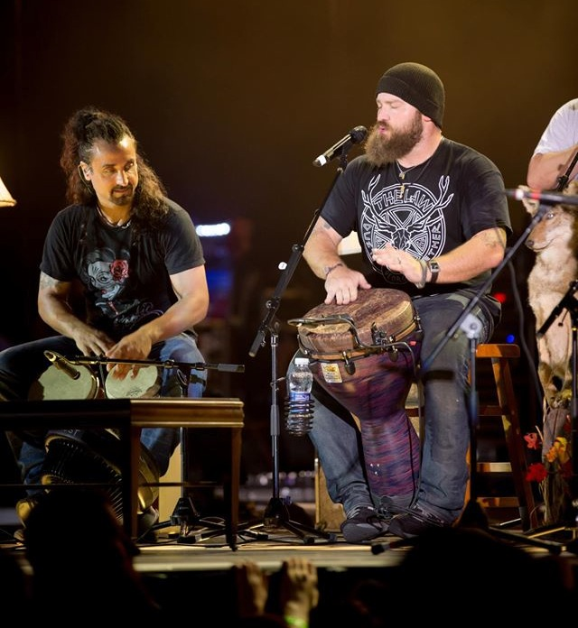 Zac Brown Band rockin' The Law Band gear at Us Cellular Pavillion, Meadowbrook
