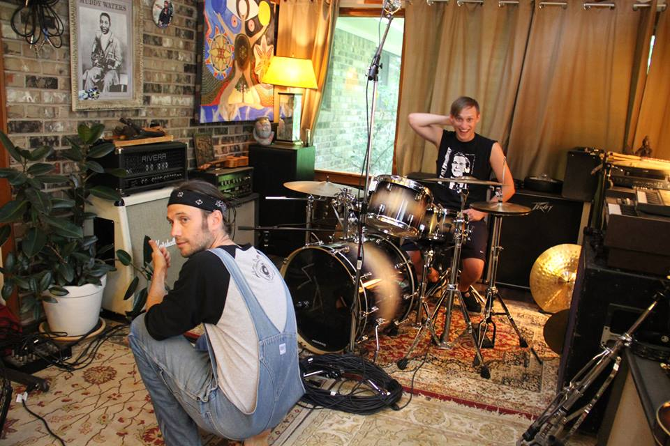 Aaron HIll & Dave Ragsdale recording drums on The Law Band 's New Album @the Green House Studios Atlanta