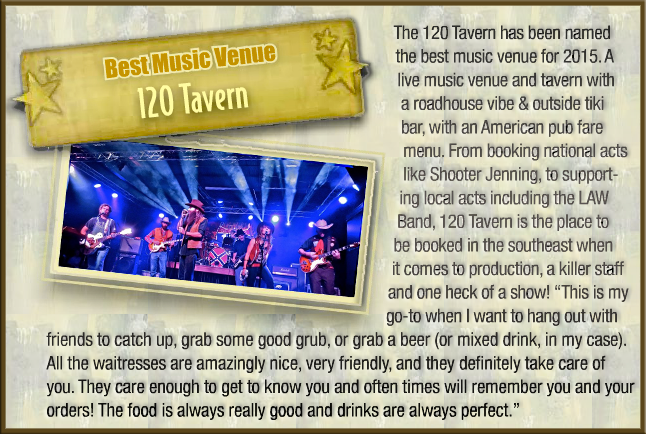 Thanks Grease Inc. Magazine for The Law Band Mention in Your Best of 2014 Issue! No Doubt we love The 120 Tavern & Music Hall too & are looking forward to playing their next month! Read the full issue here: http://garage71.net/?p=6783 — with Joel Nettesheim, Blake Benson, Chandler F McGee, Samuel Ivey, Nancy Kaye Hill and Aaron Hill